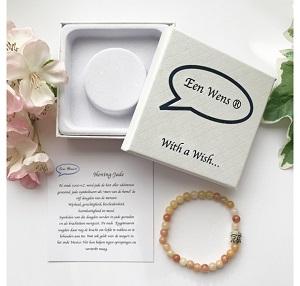 Natuursteen armband Honing-Jade