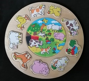 Puzzel, (boerderij) dieren