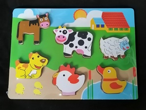 Boerderij dieren puzzel