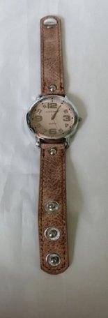 Horloge, oudroze/bruin