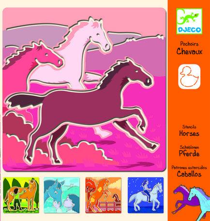 Djeco - Paarden sjablonen.
