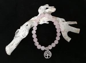 Natuursteen Rozenkwarts armband