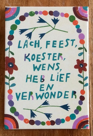 Magneet, lach, feest, koester, wens