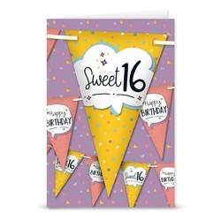 Sweet 16 feestvlaggen
