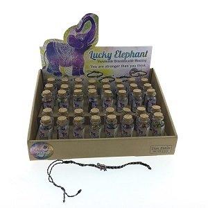Geluksarmband olifant in een flesje