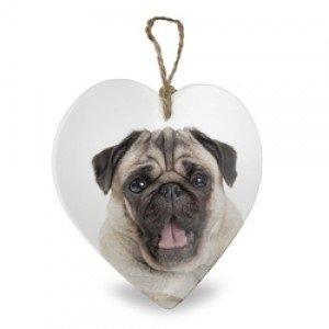 Mopshond, hart van keramiek
