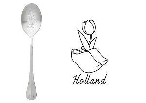 Lepel, holland, klomp, tulp