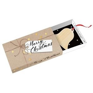 Merry Christmas, kerstboodschap in een doosje