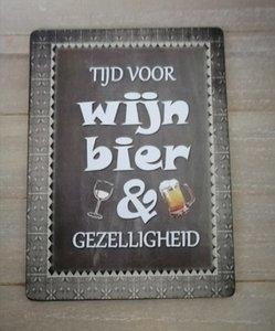 Tijd voor wijn, bier en gezelligheid