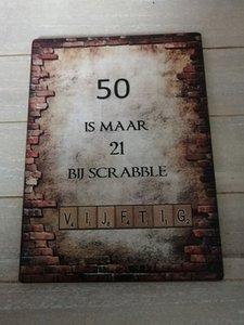 50 is maar 21 bij scrabble