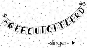 Slinger, gefeliciteerd