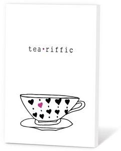 Tea riffic, thee in een kaartje