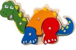 Houten puzzel, dinosaurus