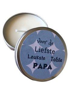Kaars, voor de liefste leukste tofste papa