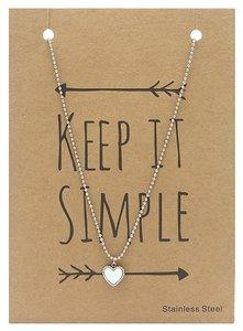 Ketting hartje, keep it simple
