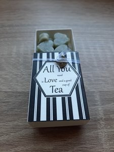 Zeepjes, all you need is love and a good cup of tea