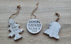 Kerstsetje van hout