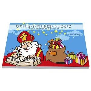 Kleur-en schetsboek Sinterklaas