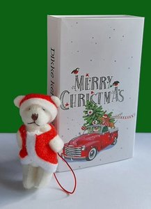 Cadeaudoosje met kerstbeer