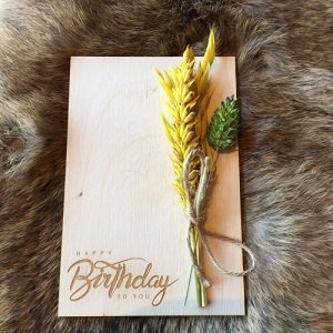 Wenskaart (van hout) Happy Birthday To You