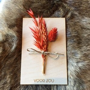 Wenskaart (van hout) Voor jou