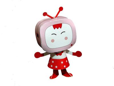 Kaart Televisiongirl (bouwpakket)