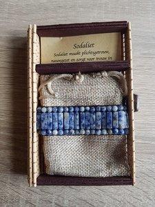 Dames armband met natuursteen Sodaliet