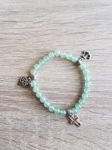 Dames armband Aventurijn met Geloof Hoop Liefdebedels