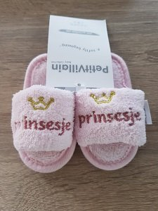 Badslipper (roze) prinsesje