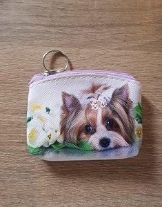 Hond portemonnee paars