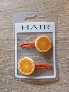 Set haarspelden, sinaasappel