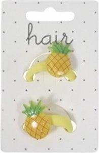 Set haarelastiekjes, ananas