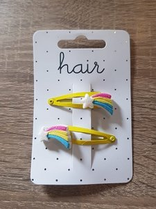 Set geelkleurige haarspelden, vallende ster
