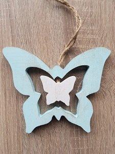 Houten hanger met vlinders