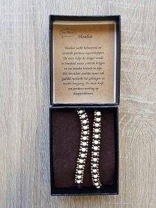 Dames wikkelarmband natuursteen Howliet