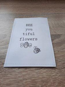 Bijenmengsel bee you tiful flowers