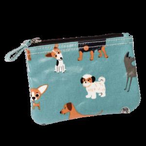 Klein tasje/grotere portemonnee met hondenprint