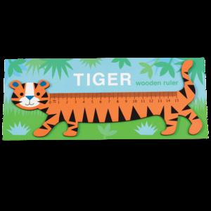 Houten kinderliniaal tijger