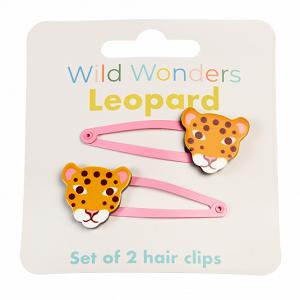 Set Wild Wonders luipaard haarspelden
