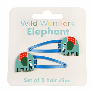 Set Wild Wonders olifant haarspelden