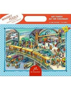 Magneet puzzel op het station