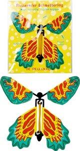 Fladderende vlinder van papier blauw