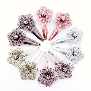 Haarclips metalen bloem