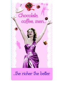 Chocolade, coffee, men