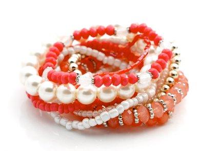 Armbanden zalm/roze
