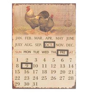Kalender metaal kip