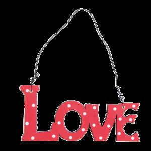 Love hanger, hout