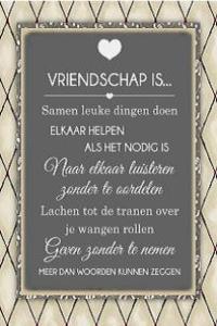 Vriendschap is......