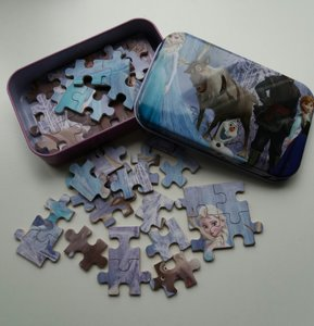 Puzzel Frozen in blik