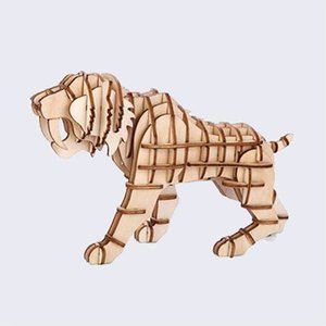 3d puzzel, tijger
